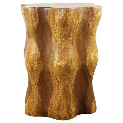 Solid Wood Tree Stump End Table - Wayfair