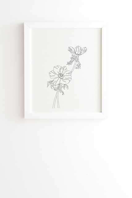 "Botanical Illustration Joan by The Colour Study - Framed Wall Art Basic White 20"" x 20"" - Wander Print Co."