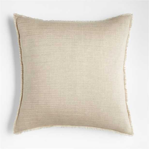 """Arla 23"""" Eyelash Natural Pillow Cover with Down-Alternative Insert - Crate and Barrel"""