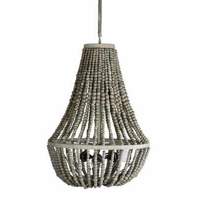 Tsavag 3 - Light Unique Tiered Chandelier with Beaded Accents - Wayfair