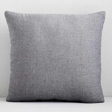 """Sunbrella Indoor/Outdoor Cast Pillow Pair, Slate, 18""""x18"""" - West Elm"""