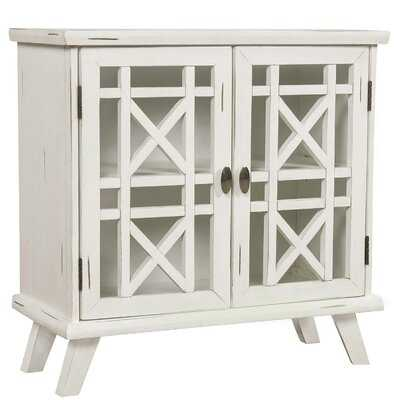 Wood Door Accent Cabinet With Adjustable Shelf Storage Cabinet For Hallway Dining Console Table (Antique White) - Wayfair