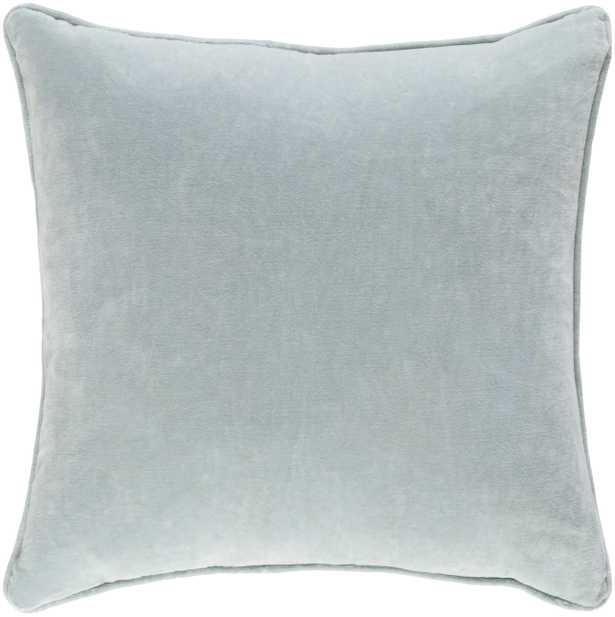 """Safflower Pillow - Mint / 18"""" x 18"""" / Poly Insert - Neva Home"""