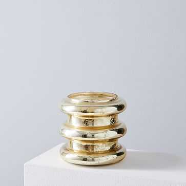 Stacked Mercury Candles, Gold, Small - West Elm