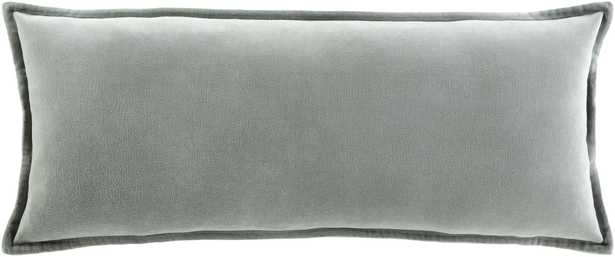 """Cotton Velvet - CV-037 - 12"""" x 30"""" - with down insert - Neva Home"""