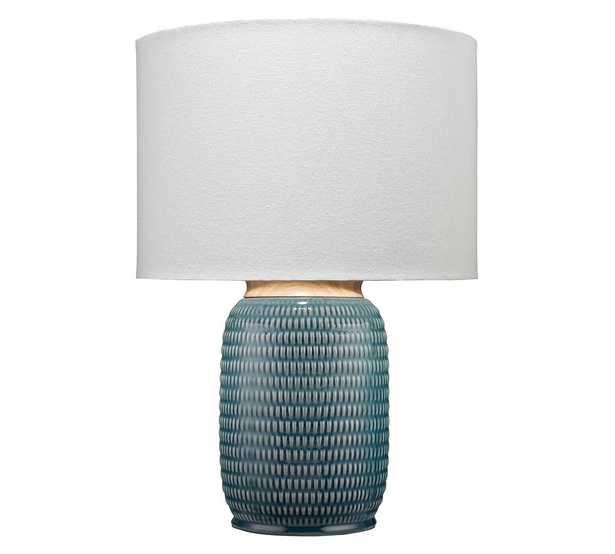 Juna Ceramic Table Lamp, Blue - Pottery Barn
