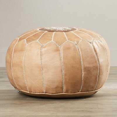 Carolos Leather Pouf - Wayfair