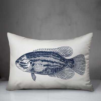 Winkelman Sketched Fish Lumbar Pillow - Wayfair