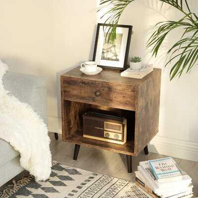 Marone 1 - Drawer Solid Wood Nightstand - Wayfair