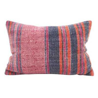 Rupert Stripes Accent Down Filled Lumbar Pillow - Wayfair