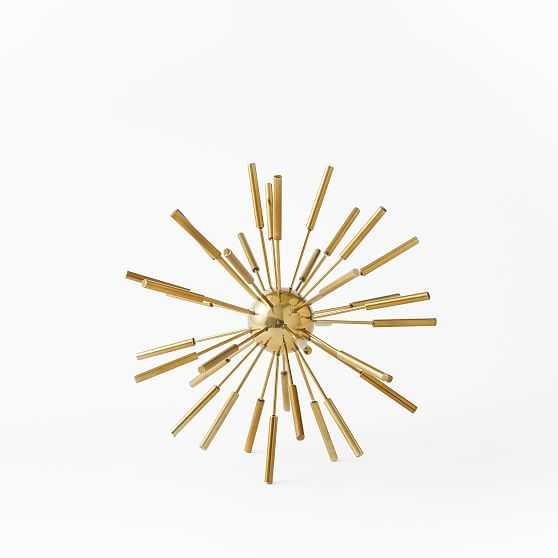 Metal Sputnik Object, Small, Brass, Set of 2 - West Elm
