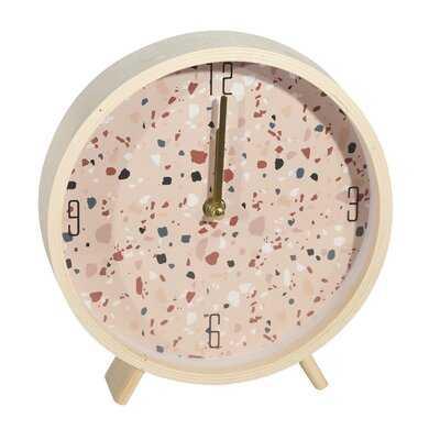 Wood Terrazzo Table Clock - Wayfair