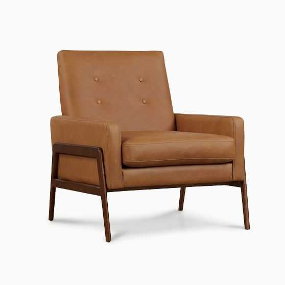 Henley Chair Tan Charme Leather Walnut - West Elm