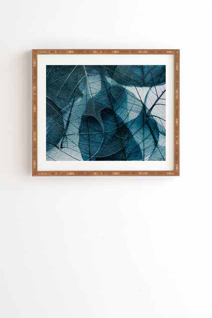 "Ingrid Beddoes Denim blue Framed Wall Art - 8"" x 9.5"" - Wander Print Co."
