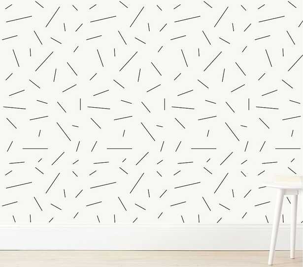 Chasing Paper Long Lines Wall Paper - Pottery Barn Kids