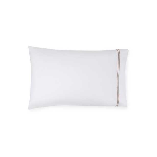 SFERRA Grande Hotel Pillow Case Size: Standard, Color: White/Taupe - Perigold