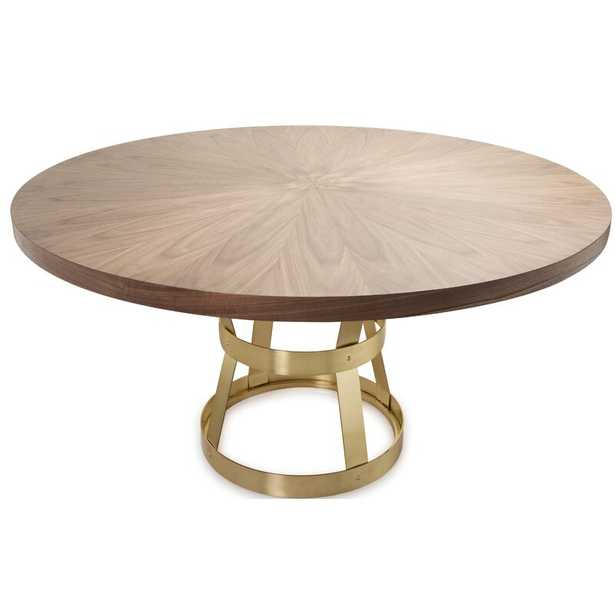 Worlds Away Dining Table Table Base Color: Antique Brass - Perigold