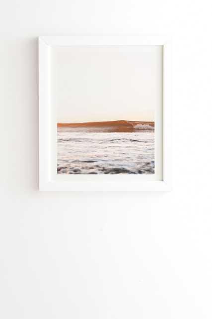 "Sunset Surf by Bree Madden - Framed Wall Art Basic White 20"" x 20"" - Wander Print Co."