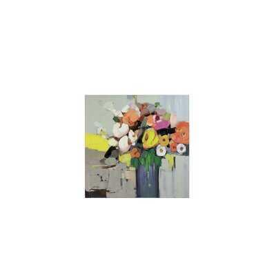 'Oil Painting - Flower' - Unframed Print on Canvas - Wayfair