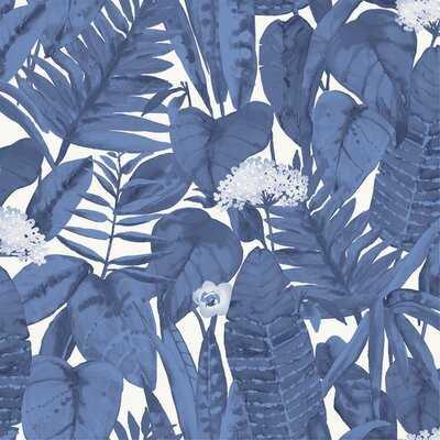 "Waloo Tropical Jungle 16.5"" L x 20.5"" W Smooth Peel and Stick Wallpaper Roll - AllModern"