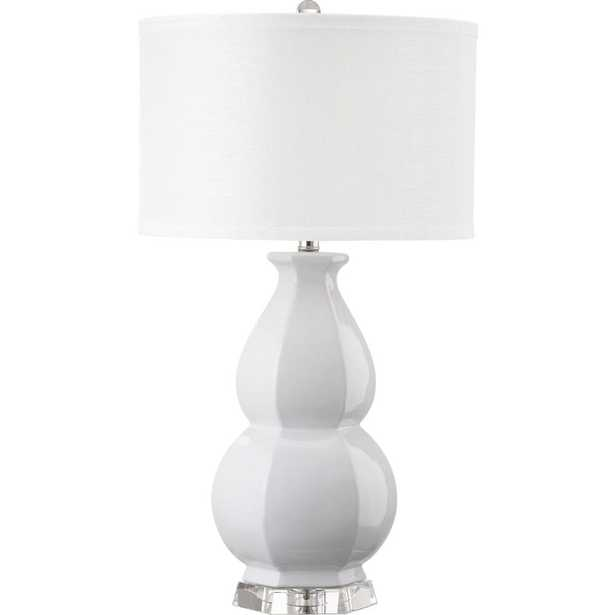 Safavieh Juniper 30.25 in. White Table Lamp with White Shade - Home Depot