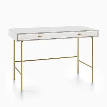 Modernist Wood Lacquer Desk, Winter Wood - West Elm