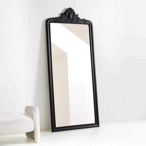Levon Carved Wood Floor Mirror - Crate and Barrel