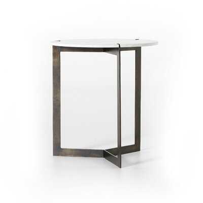 Natanael Marble Top Cross Legs End Table - Wayfair