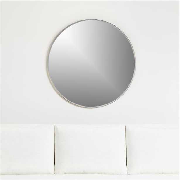 "Edge Brass 36"" Round Mirror - Crate and Barrel"