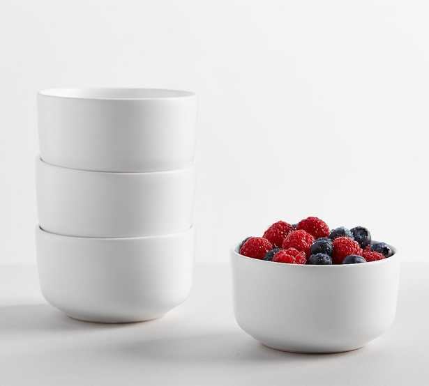 Mason Stoneware Berry Bowl, Set of 4 - True White - Pottery Barn
