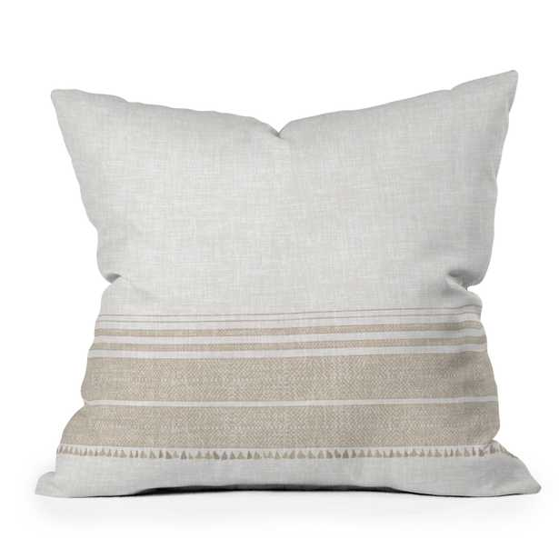 """French Linen Tassel by Holli Zollinger - Outdoor Throw Pillow 16"""" x 16"""" - Wander Print Co."""