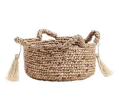 Palma Round Handled Seagrass Basket, Medium - Pottery Barn