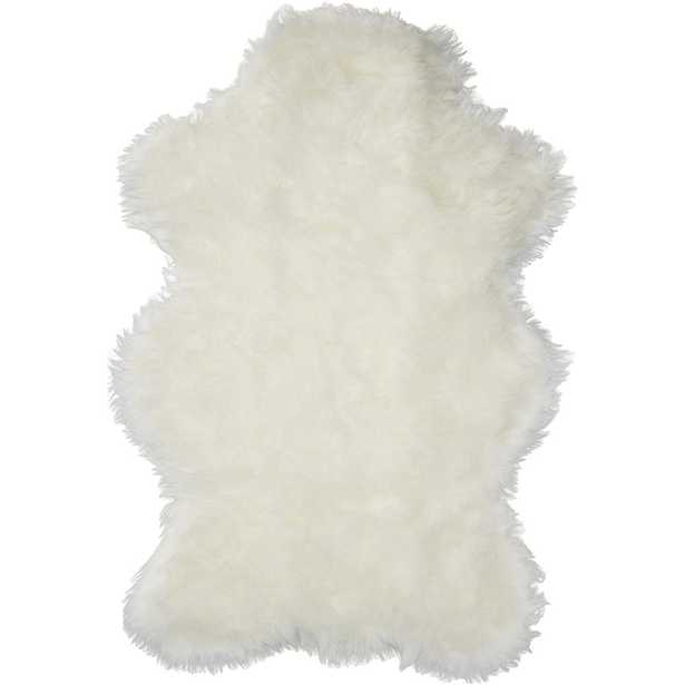 Walk on Me Faux Fur Area Rug Luxuriously Soft and Eco Friendly Bear Pelt 3' X 5' White Made in France - Home Depot