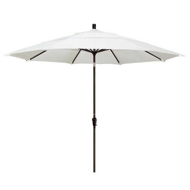 California Umbrella 11 ft. Bronze Aluminum Market Patio Umbrella Auto Tilt in Canvas Pacifica - Home Depot