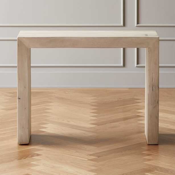 Blanche Bleached Acacia Console Table - CB2