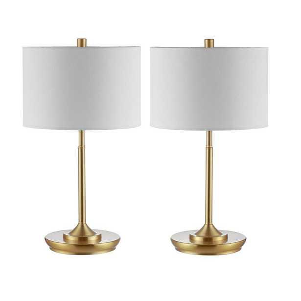 Safavieh Taren 21.5 in. Brass Gold Table Lamp - Home Depot