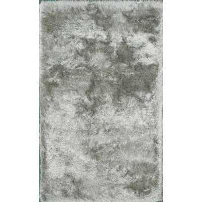 Crystal Abstract Shag Silver Area Rug - Wayfair