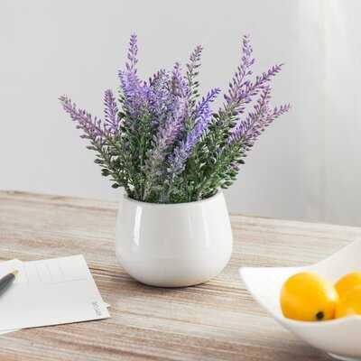 Tabletop Fake Lavender Flowers Potted Plant - Wayfair