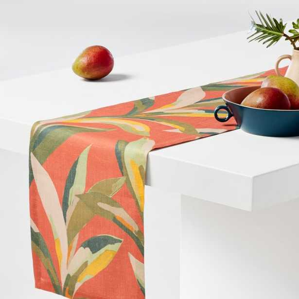"""Palma 90"""" Tropical Table Runner - Crate and Barrel"""