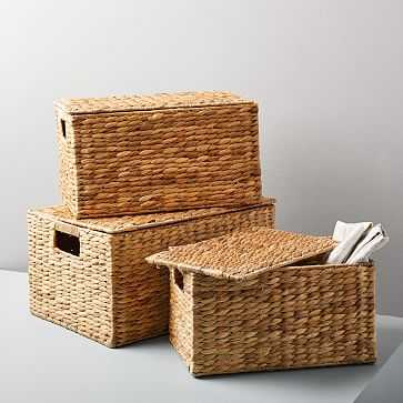 Twist Weave Baskets, Set of 3, Natural - West Elm