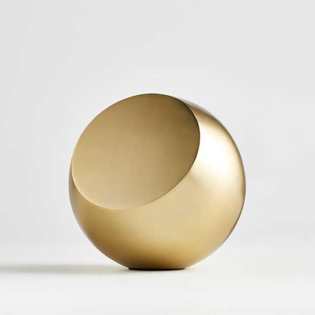Revolve Brass Tabletop Sculpture - Crate and Barrel