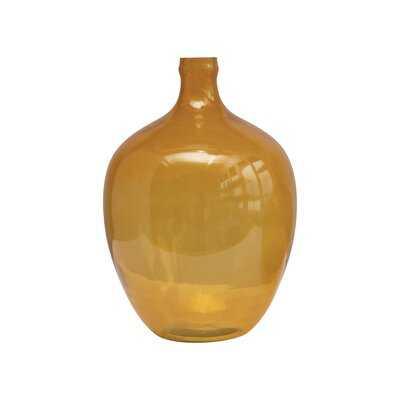 Mustard 15'' Glass Table Vase - Wayfair