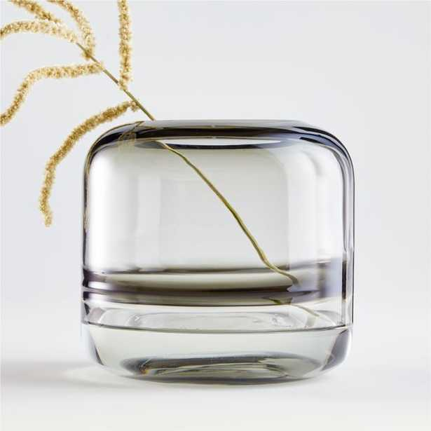 Daydream Black Swirl Small Glass Vase - Crate and Barrel