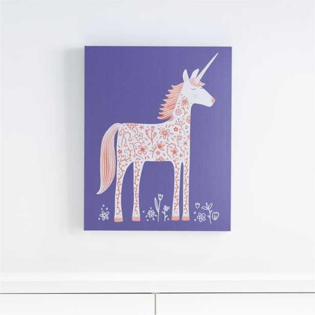 Unicorn Canvas Wall Art - Crate and Barrel