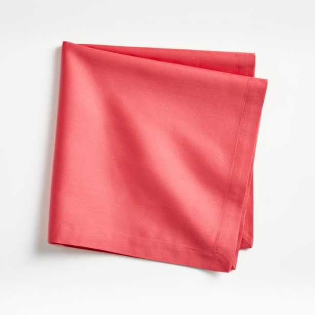 Fete Raspberry Red Cotton Napkin - Crate and Barrel