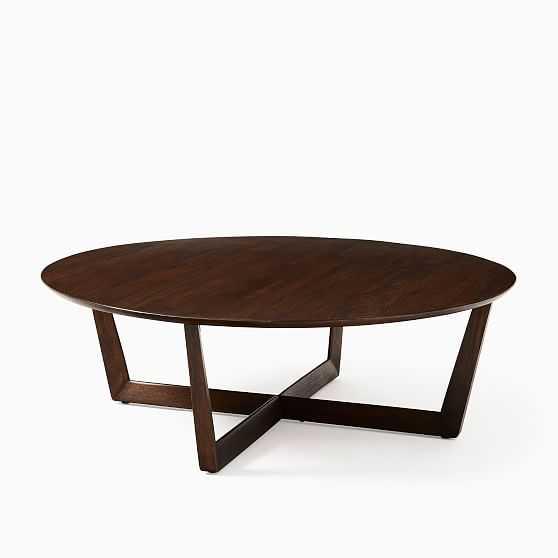 StoCollection Dark Walnut Xl 46 Inch Round Coffee Table - West Elm
