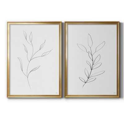 Botanical Gesture I - 2 Piece Drawing Print Set - Wayfair