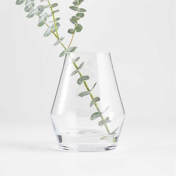 """Laurel Angled Clear Glass Vase 6.25"""" - Crate and Barrel"""