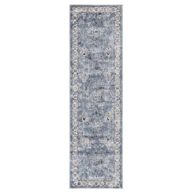 "Nashira Oriental Blue/ White Runner Rug (2'3""X8') - Collective Weavers"