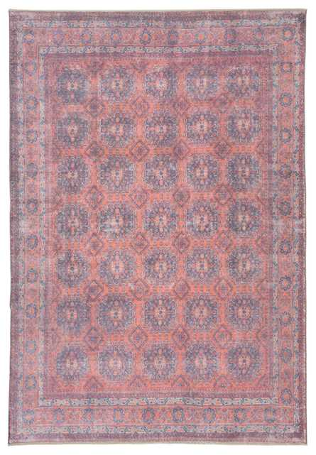 """Shelta Oriental Blue/ Red Area Rug (8'10""""X11'9"""") - Collective Weavers"""